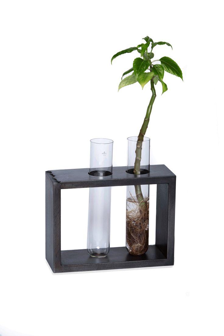 The Beaker Vase Metal Metal Fabrication Furniture Steel Wood Adjustable Beaker Vase