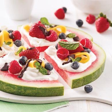 Pizza de melon d'eau fruitée - Recettes - Cuisine et nutrition - Pratico Pratique