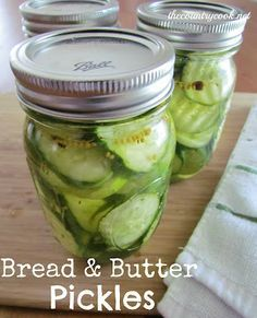 The Country Cook: Easy Bread & Butter Pickles