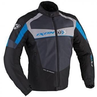 Chaqueta para moto con Protección IXON Alloy - Negro/Azul/Gris