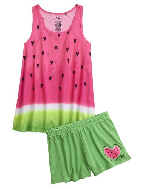 Shop Watermelon Pajama Set and other trendy girls pajamas sleepwear at Justice…