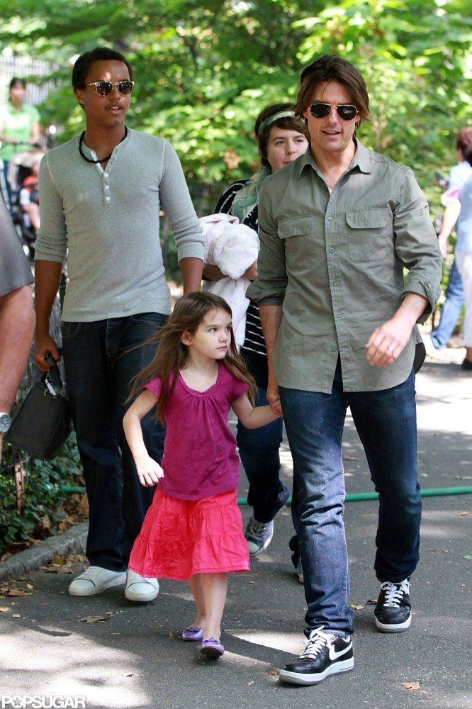 Tom Cruise has a daughter and a son, Connor and Isabella, with ex-wife Nicole Kidman, and his youngest daughter, Suri, with Katie Holmes. The Cruise gang spent the day with Dad in Central Park in September 2010.  #celebrities   #celebrity dads