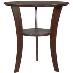Penny Short Manchester Wood Contemporary Round End Table In Chestnut