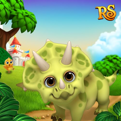 Did someone tell you dinosaurs are extinct? Clearly they never played Royal Story! Meet Triceratops! #royalstorygame #royalanimals #royalzoo