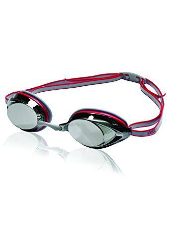 Official Swim Goggle on Amazon - Speedo Vanquisher 2.0 Mirrored Swim Goggle, Grey/Red - http://www.exercisejoy.com/official-swim-goggle-on-amazon-speedo-vanquisher-2-0-mirrored-swim-goggle-greyred/swimming/