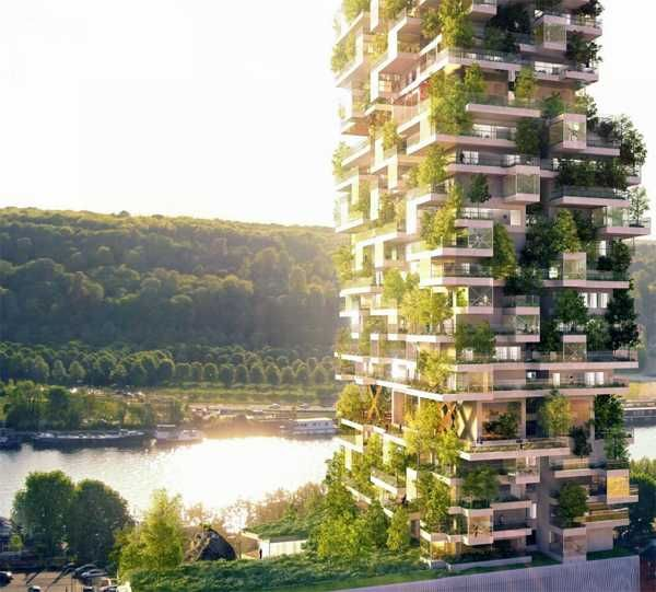 Green Building In Rural Urban Style With Spacious Apartments And Private Small Gardens Gardens
