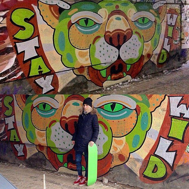 Влили зверька #staywild #graffitinature #sprayart #street #siberia