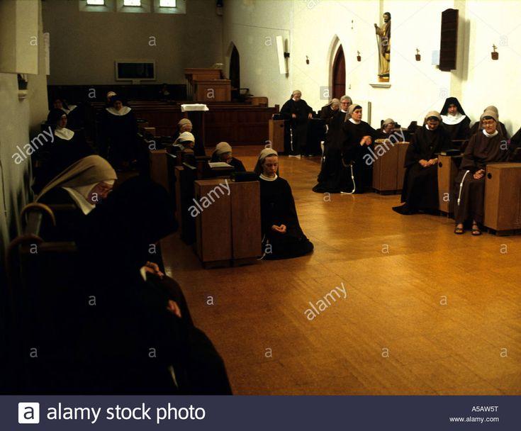 Franciscian Nuns At Prayer Arundel Sussex England Stock Photo ...