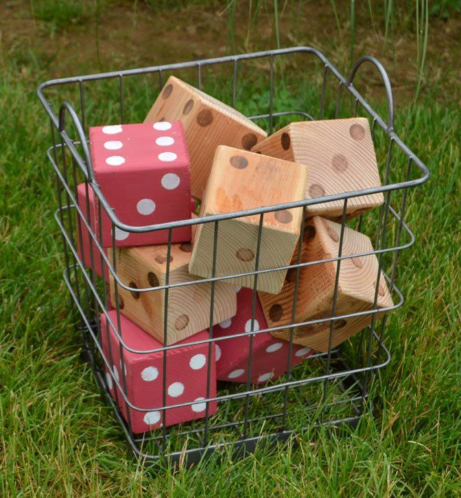 Now that summer weather is finally here, it's time to play outside! Learn how easy it is to make over-sized lawn dice from a 4 x 4 and play one your favorite di…