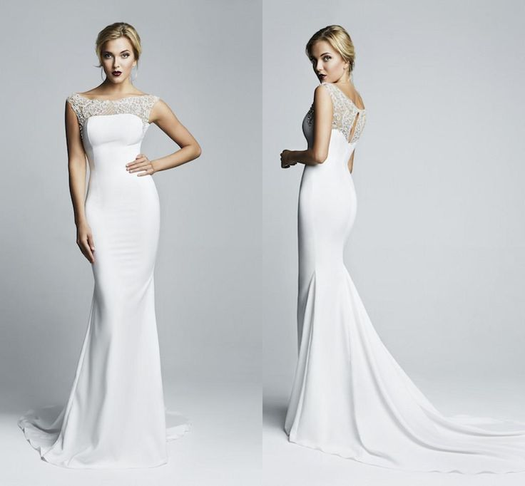 Online shopping 2015 mermaid spandex tight maxi wedding for Tight fitted mermaid wedding dresses