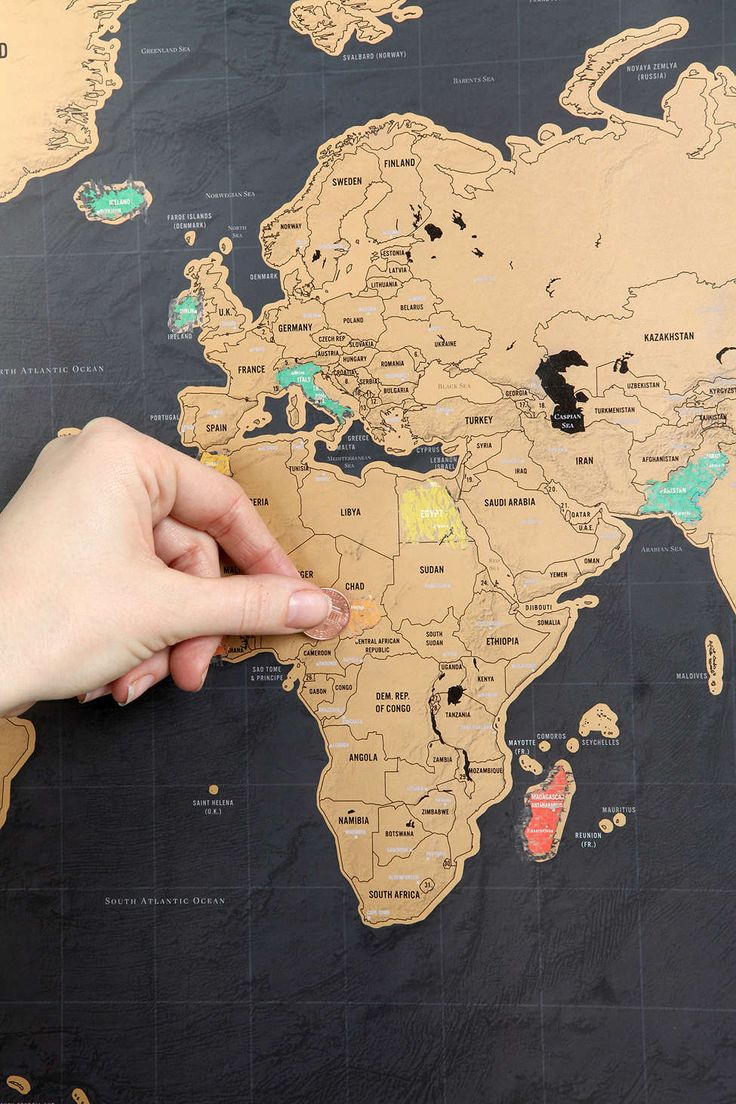Deluxe Scratch Off World Map Urban Outfitters