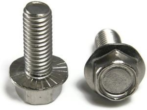 5/16-18 Hex Serrated Flange Bolt 18-8 Stainless Steel