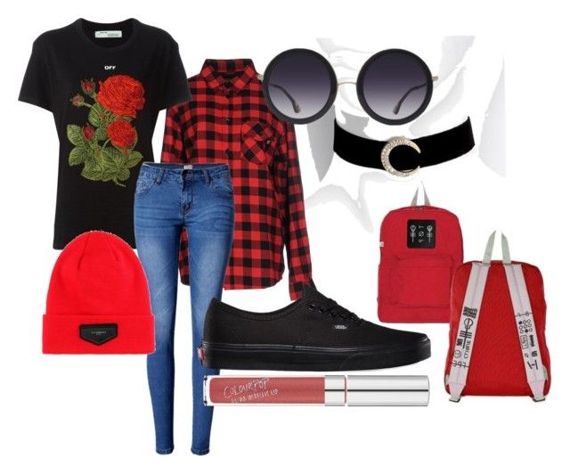 """Floral Punk"" by softoctobernight on Polyvore featuring Sweet Skateboards, Off-White, WithChic, Vans, Givenchy and Alice + Olivia"