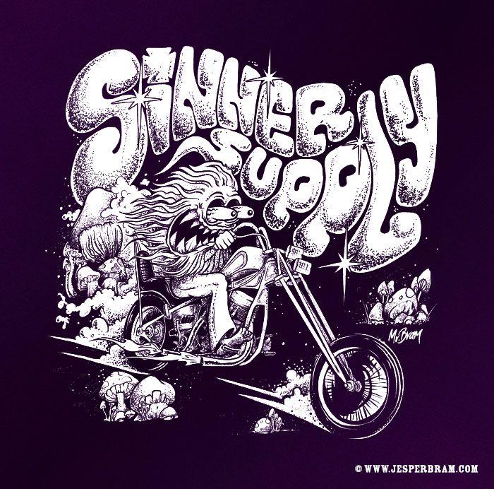 T-shirt design for Sinner Supply by http://www.jesperbram.com
