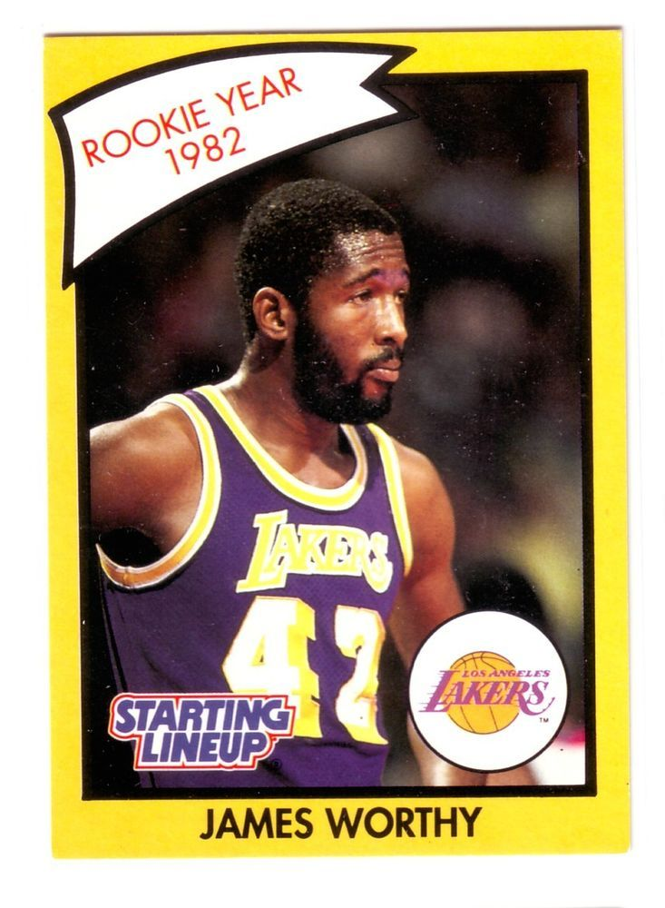 james worthy 1990 kenner starting lineup rookie year 1982 lakers b241 from $4.99
