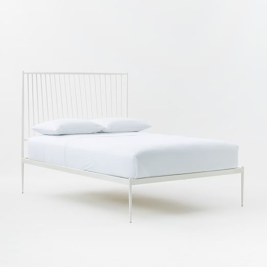 stella metal bed white west elm furniture