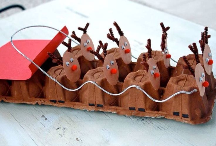 Cute Santa sleigh craft idea for the kids