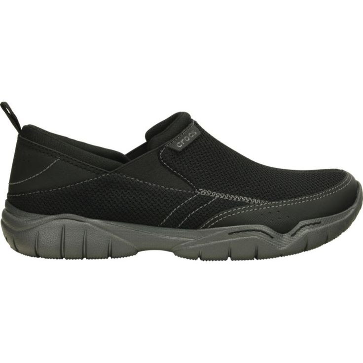 Crocs Men's Swiftwater Mesh Moc Casual Shoes, Size: 10, Black