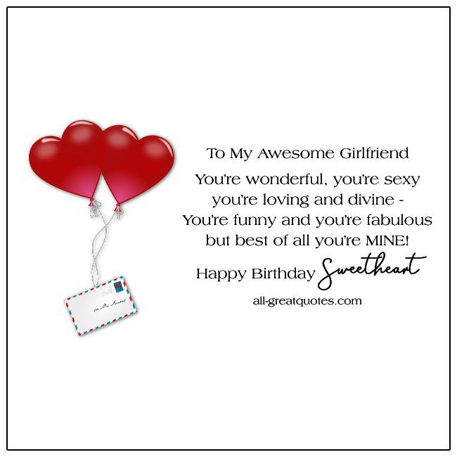 Beautiful Free Birthday Cards For Girlfriend Birthday Cards Birthday Cards For Girlfriend Happy Birthday Girlfriend Free Birthday Card