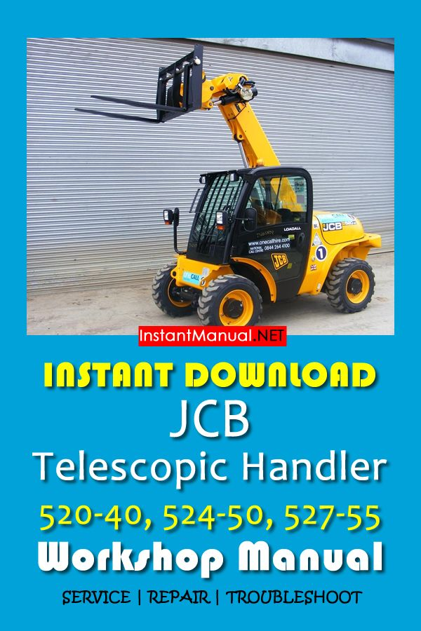Download JCB 520-40, 524-50, 527-55 Telescopic Handler Workshop Manual PDF  | Telescope, Repair manuals, RepairPinterest
