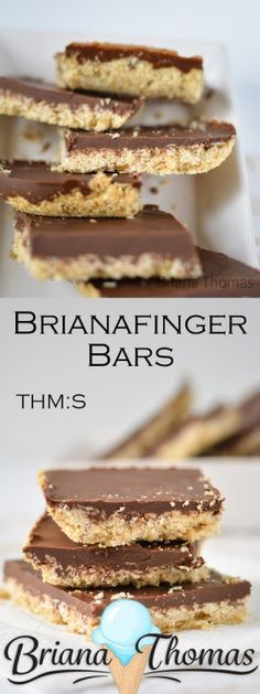 Brianafinger Bars (originally on my website as Butterfinger Bars) - THM:S, low carb, sugar free, gluten/egg free