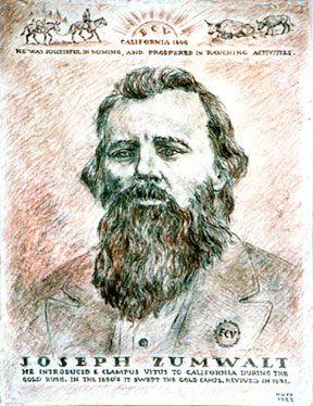 [ Joseph Zumwalt plaque. Murphys, California. ]