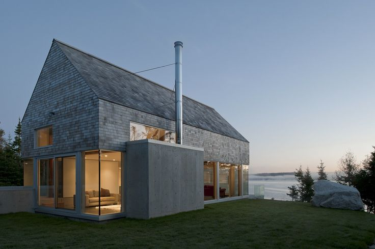 Built by MacKay-Lyons Sweetapple Architects in Prospect, Canada with surface 3000.0. Images by Greg Richardson. The Martin-Lancaster house is a 3000 square foot courtyard house, situated on the rugged Atlantic coast of Nova Scoti...