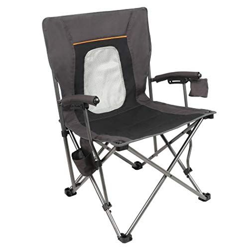 portal camping chair folding portable quad mesh back with cup holder rh pinterest com