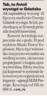 #Wyborcza: Tak, to #Avicii wystąpi w Gdańsku
