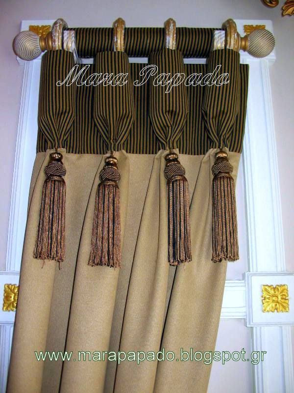 ΑΑΑ Κουρτίνες Mara Papado - Designer's workroom - Curtains ideas - Designs: Κουρτίνες και σχέδια από τη Mara Papado