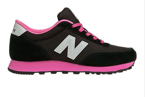 New Balance 501 Dames Klassiekers Zwart Met Hete Roze SchoenenVerkooppunten Store
