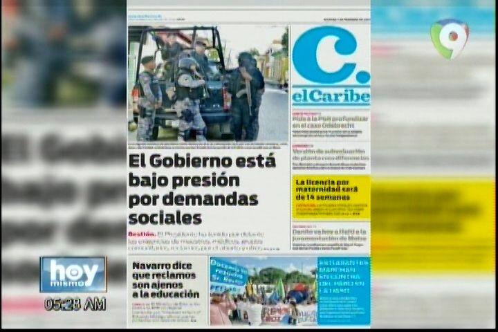 Portada Periódicos Del Día De Hoy 7-Febrero-2017
