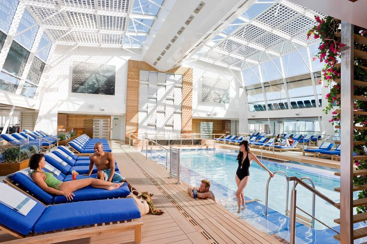 Poolside onboard Celebrity Cruises