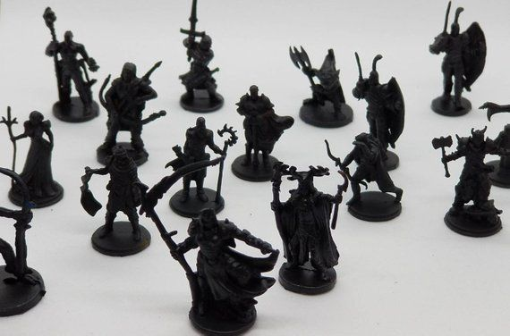 new color 20 pc dungeons and dragons miniatures primed black 1 72 rh pinterest com