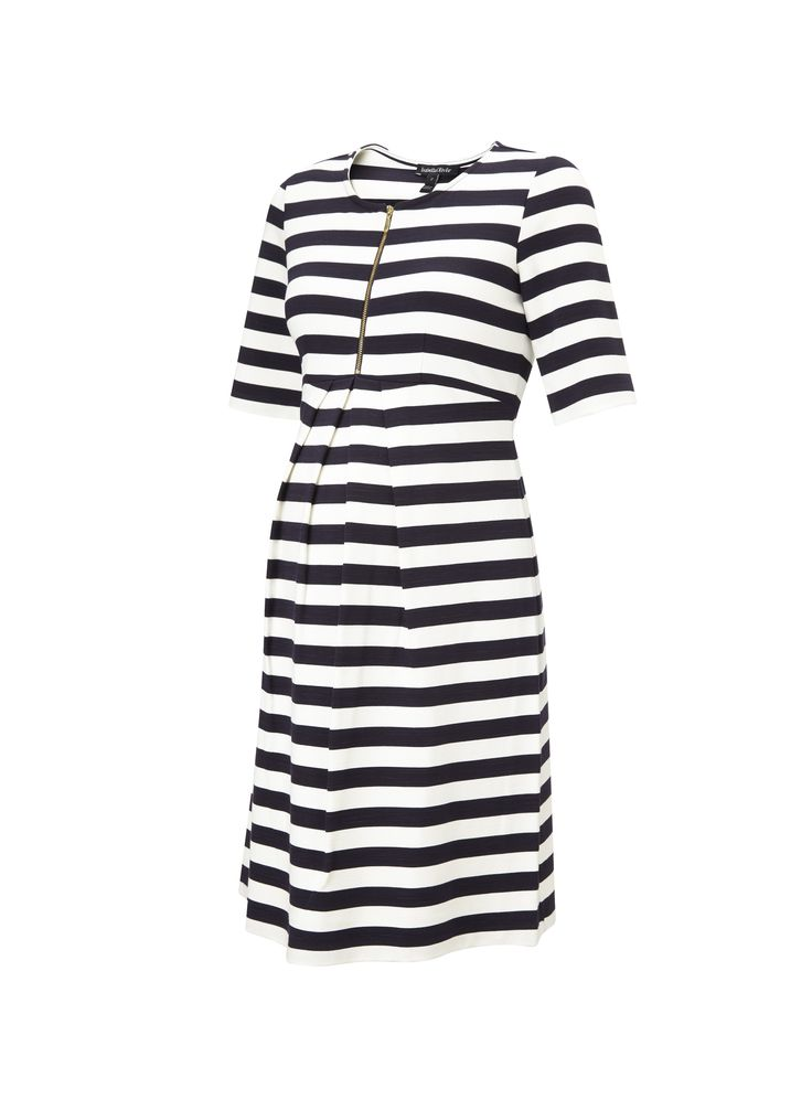 Baywood Striped Maternity Dress in [colour] at Isabella Oliver. Shop our luxury collection today for stylish, premium quality maternity clothes that will last.
