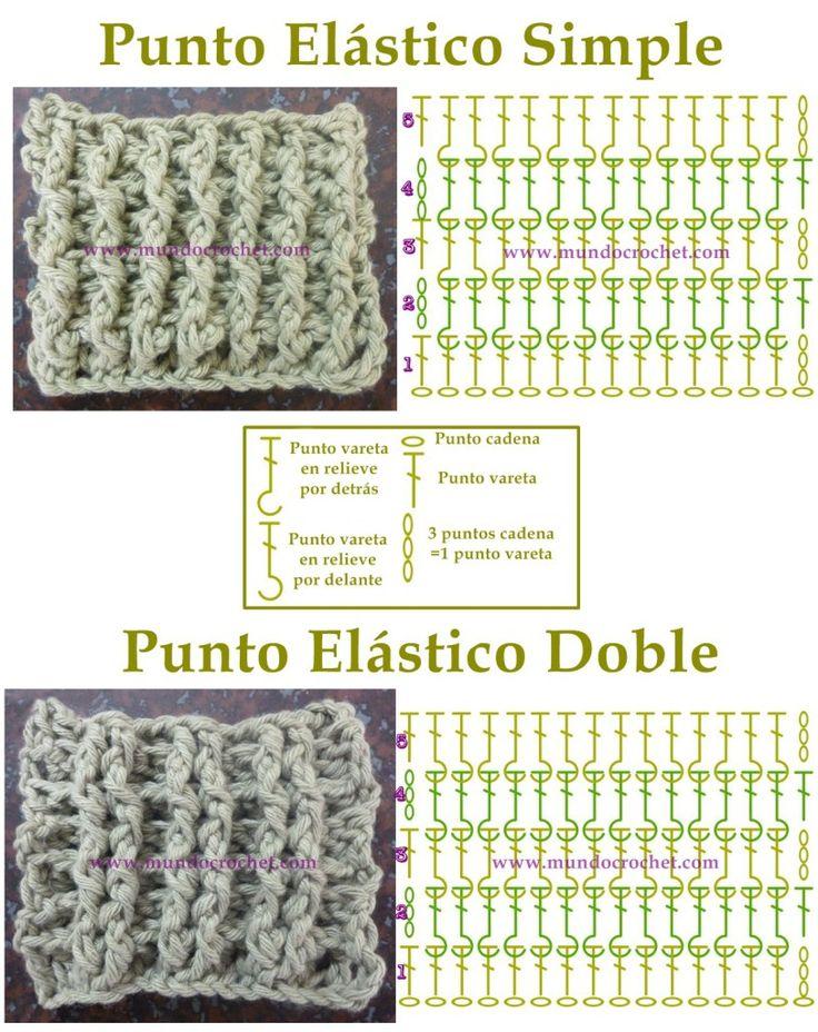 Mejores 156 imágenes de Tecnica Crochet en Pinterest | Puntos ...