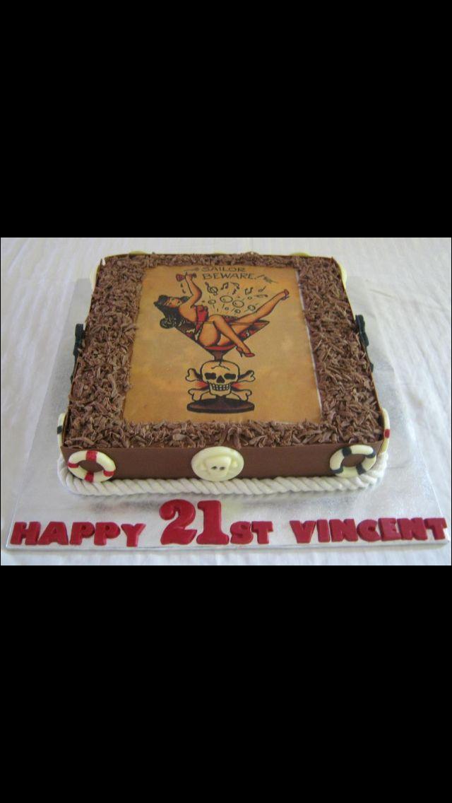 Best Birthday Cakes Images On Pinterest Birthday Cakes - Rockabilly birthday cake