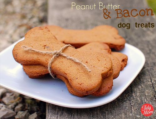 Homemade gluten-free dog treats.
