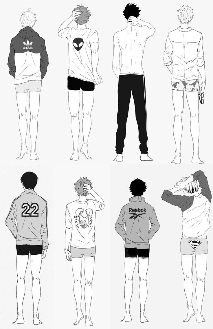 Boyfriends in their sleepwear (ノ´ヮ´)ノ*:・゚✧ can you tell who's who? Sugawara Koushi, Oikawa Tooru, Kuroo Tetsurou, Tsukishima Kai, Bokuto Koutaro, Akaashi Keiji, Aiko Draws