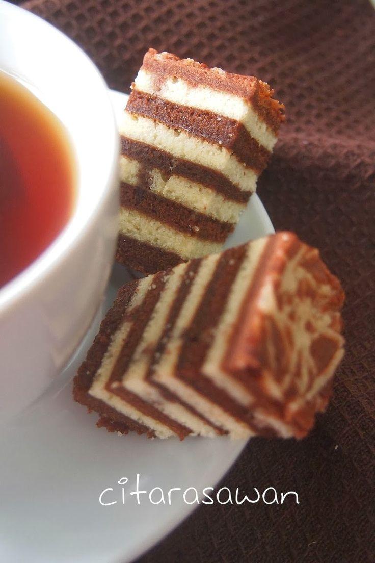 Kek Lapis Chocolate Cream Cheese | Resipi Citarasawan