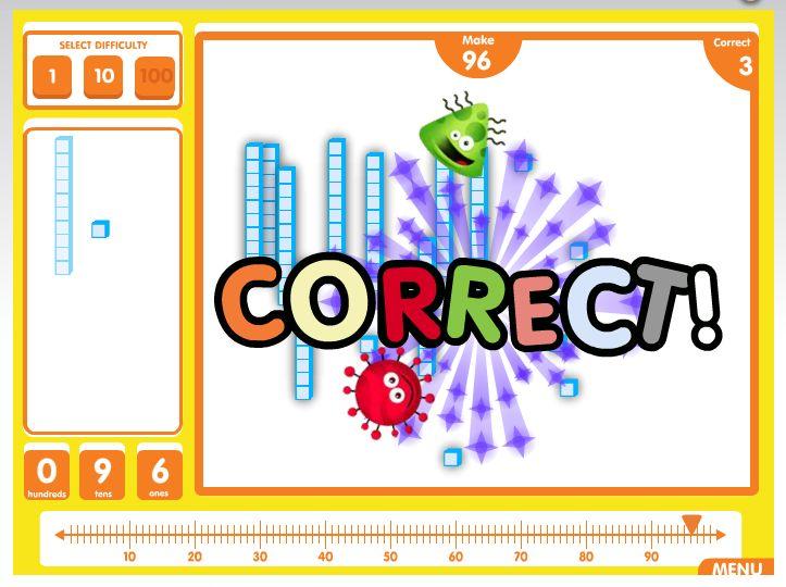 Base Ten Fun with ABCya! | Learn math online, Task cards, Math
