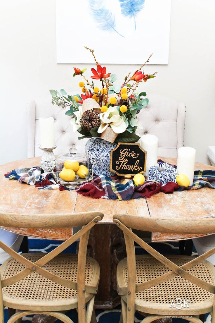 Simple DIY Fall Centerpiece Idea Fall
