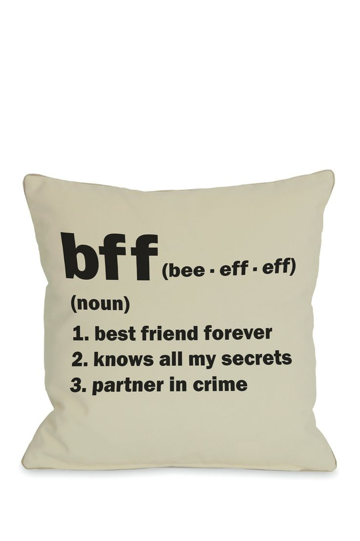 BFF Definition Square Pillow