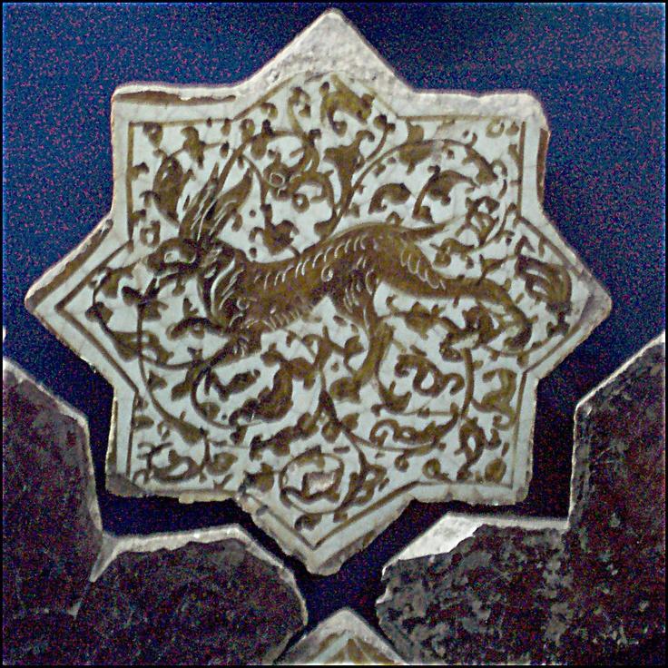 Tile in the Seljuk Ceramics Museum in Konya, Turkey © 2005