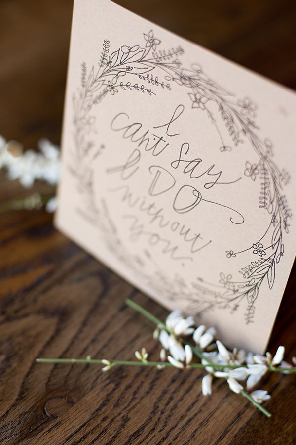 Win a package of hand lettered wedding paper