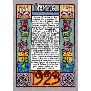Fun Facts Birthday - Born in 1923 Cards by Zazzle. $3.15. What happened in the year you were born? Everybody is curious to find out what happened in their birth year Created by cfkaatje Keywords: 1923, fun facts, birthday, fun facts birthday card, b-day, b day, corrie kuipers, historical events