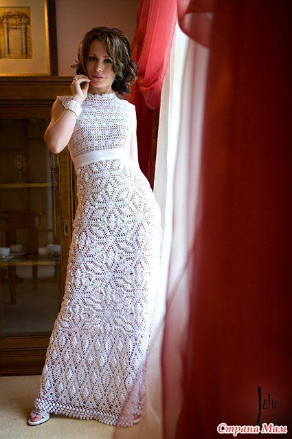 Свадебное платье - Вяжем вместе он-лайн - Страна Мам