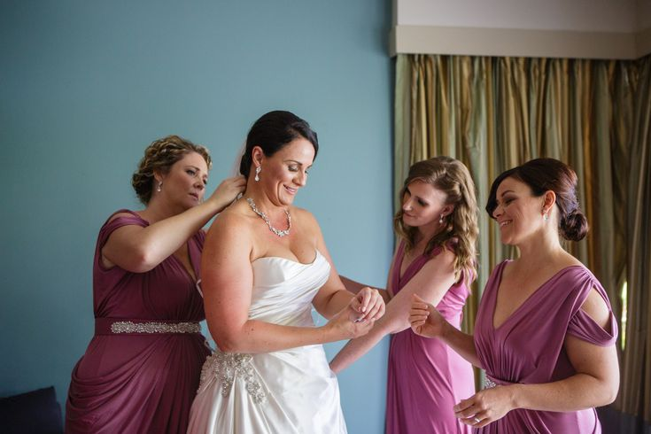 Kristen, the stunning bride, dressed her bridesmaids in different Pia Gladys Perey dresses.