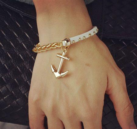 Gold Filled Leather Rope Bracelet