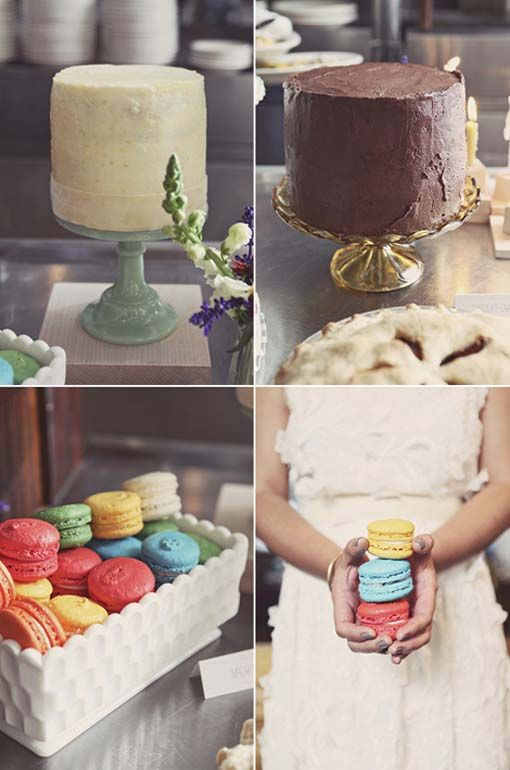 wedding cake macaron | ... wedding of le and lindsey colorful large wedding macarons and cakes